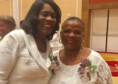 ...with the International President of Alpha Kappa Alpha Sorority Incorporated, Soror Glenda Baskin Glover.